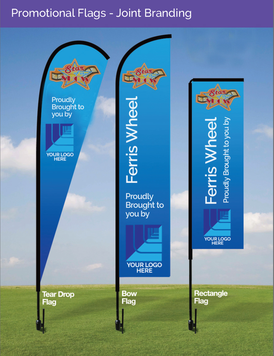 Promotional Flags - Joint Branding